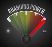 Branding power speedometer illustration — Stock Photo