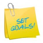 Set goals post illustration design — Stock Photo