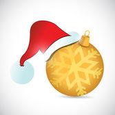 Illustrazione di ornamento e cappello di Natale di design — Foto Stock