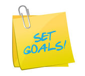 Set goals post illustration design — Stock Photo