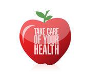 Cuidar de seu projeto de ilustração de saúde — Fotografia Stock