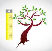 Tree measure illustration design — Photo