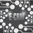 E crm circuit electronic board illustration design — Stock Photo