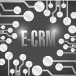 Stock Photo: E crm circuit electronic board illustration design