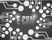 E crm circuit electronic board illustration design — Stok fotoğraf