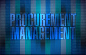 Procurement management binary illustration — Stock Photo