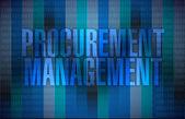 Procurement management binary illustration — Stock Photo