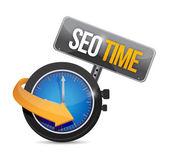 Seo time watch illustration design — Stock Photo
