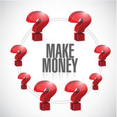 Questions for money making. illustration design — Stock Photo