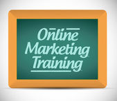 Online marketing training message on a chalkboard — Stock Photo