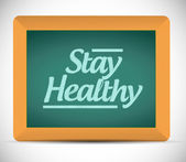 Stay healthy message on a chalkboard. illustration — Stock Photo