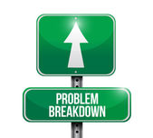 Problem breakdown road sign illustration design — Photo