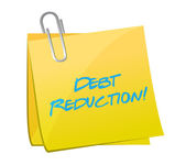 Debt reduction post illustration design — Stock Photo