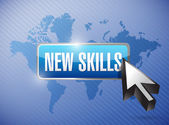 New skills button illustration design — Stock Photo