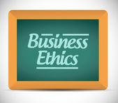 Business ethics message illustration design — Stock Photo