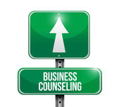Business counseling road sign illustration design — Stock Photo