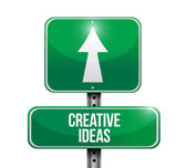 Creative ideas road sign illustration design — Stock Photo