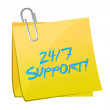 24 7 support post illustration design — Stock Photo #38810673