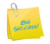 Big success post illustration design — Stock Photo