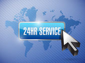24hr service button illustration design — Stock Photo