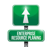 Enterprise resource planning road sign illustration — Stock Photo