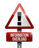Information overload warning sign illustration — Stock Photo