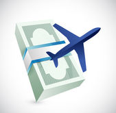 Travel cost illustration design — Stock Photo