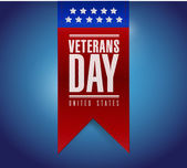 Veterans day banner illustration design — Stock Photo