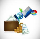 Wallet business concept illustration design — Stock Photo