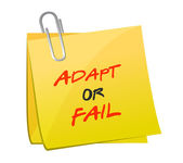 Adapt or fail post message illustration design — Stock Photo