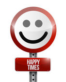 Happy times road sign illustration design — Foto Stock