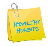 Healthy habits post illustration design — Stock Photo