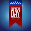 Independence day banner sign illustration — Stock Photo #39559519