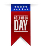Columbus day banner sign illustration design — Stock Photo