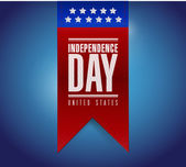 Independence day banner sign illustration — Stock Photo
