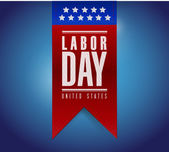 Labor day banner sign illustration design — Stock Photo