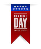 Memorial day banner sign illustration design — Stock Photo
