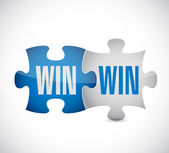 Win win puzzle illustration design — Stock Photo