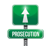 Prosecution sign illustration design — Stock Photo