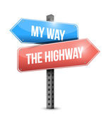 My way or the highway concept sign illustration — Stock Photo