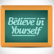 Stock Photo: Believe in yourself message on a chalkboard.