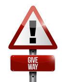 Give way warning illustration design — Stock Photo