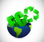 Eco half globe illustration design — Stock Photo