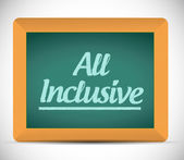All inclusive message on a chalkboard. — Stock Photo