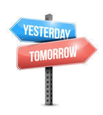 Yesterday, tomorrow sign illustration design — Stock Photo