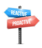 Reactive and proactive sign illustration design — Stock Photo