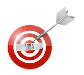 Target visa sign — Stock Photo