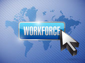 Workforce button illustration design — Stockfoto