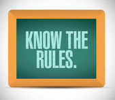 Know the rules illustration design — Stock Photo