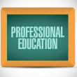 Foto Stock: Professional education message illustration design